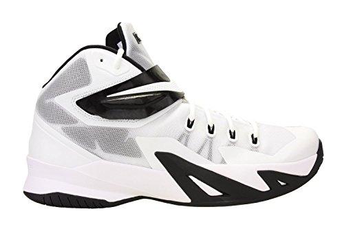 Nike Men's Lebron Soldier VIII tb Basketball Shoes-White/Black-12