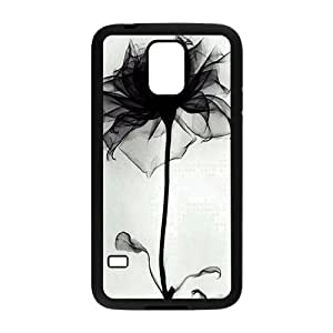 beautiful abstract black flower white background personalized high quality cell phone case for Samsung Galaxy S5