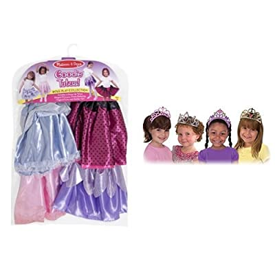 Melissa & Doug Goodie Tutus & Tiaras Dress-Up Set Bundle: Toys & Games