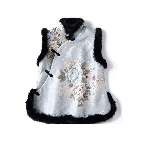 In Anno Raso Vintage Con Cinese l Donna Nuovo Taschino Cardigan Vestito A Dongpengran Quadri Da nwN8m0