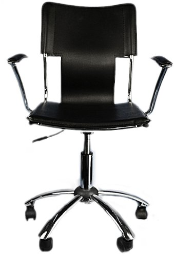 (Aviditi 2407A Chair with Angled Chrome Base and Padded Chrome Arms)