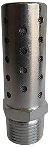 SHF-N04-10PK Stainless Steel 1//2 NPT Pack of 10 MettleAir SHF-N04 Pneumatic High Flow Silencer Pack of 10 1//2 NPT
