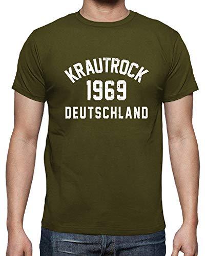 Uomo Krautrock Verde TostadoraT Militare shirt CdoWrBxe