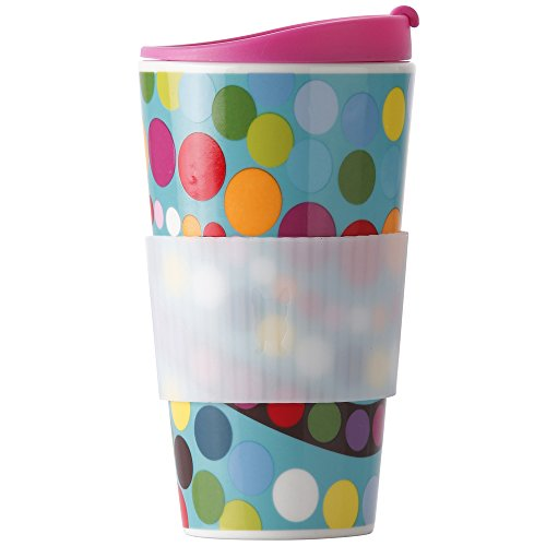 French Bull-Porcelain Travel Mug with Lid-Traveler-To-Go Tea and Coffee Cup-Bindi, Multi