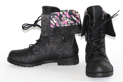 Twisted Womens Floral Lined Foldover Zipper back Comfortable ...