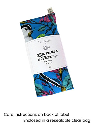 Scented Eye Pillows - Pack of (4) - Soft Cotton 4 x 8.5 - Lavender Flax Seed - Relax Soothe - yoga - tropical flowers palm leaves blue green pink fruit bird by Peacegoods (Image #5)