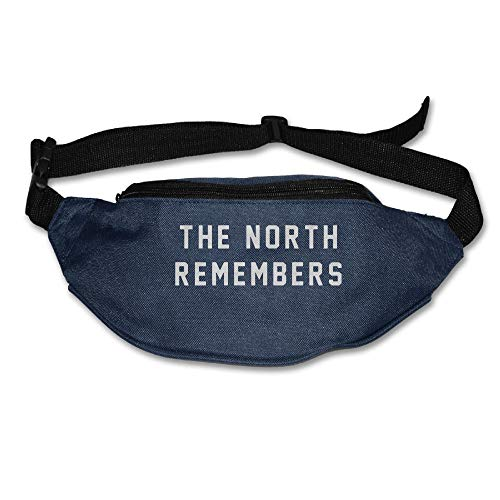 Ada Kitto THE NORTH REMEMBERS Mens&Womens Lightweight Travel Waist Bag For Running And Cycling Navy One Size by Ada Kitto