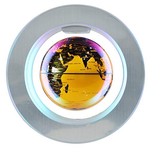 Magnetic Levitation Floating Globe, 4 inch Electronic Antigravity Levitating Globe with Colorful LED World Map for…