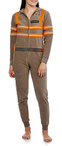[Ghostbusters Womens Union Suit Pajamas, L / 12-14] (Ghostbusters Plus Size Costumes)