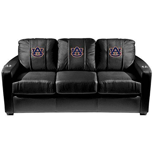 XZipit College Silver Sofa with Auburn Tigers Logo Panel, Black