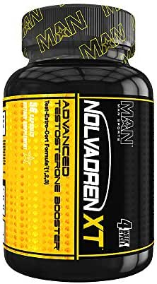 Man Sports Nolvadren XT Advanced Testosterone Booster for Men - Low Testosterone Supplements for Men - Muscle Builder Supplements for Men - Naturally Supports Free Testosterone Levels - 56 Capsules