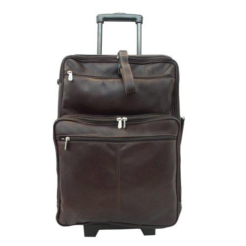 Piel Leather 22 Inch Wheeled Traveler, Chocolate, One Size