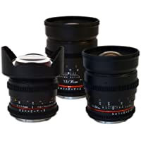 Rokinon Wide Angle Cine Lens Bundle - 35mm + 24mm + 14mm for Canon