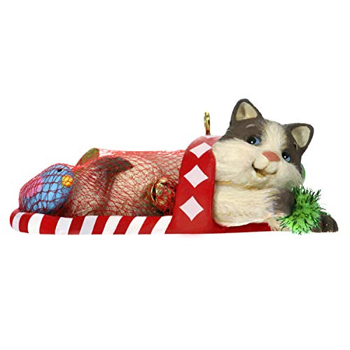 Hallmark Keepsake Christmas 2019 Year Dated, Mischievous Kittens Cat in Stocking Ornament]()