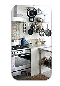 Heidiy Wattsiez's Shop New Premium Flip Case Cover Eclectic Kitchen With Terra Cotta Tile Backsplash Skin Case For Galaxy S4 4681466K74275300