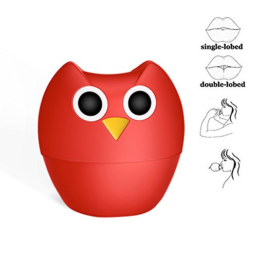 Lip Plumper Enhancer, MEXITOP NANA Owl Soft Silicone Lip Filler Plumping Device, Natural Fuller Thicker Sexy Quick Lip Enhancement Enlarger Tool, Amazing Effect Using w/ Lip Gloss (Multiple Styles)