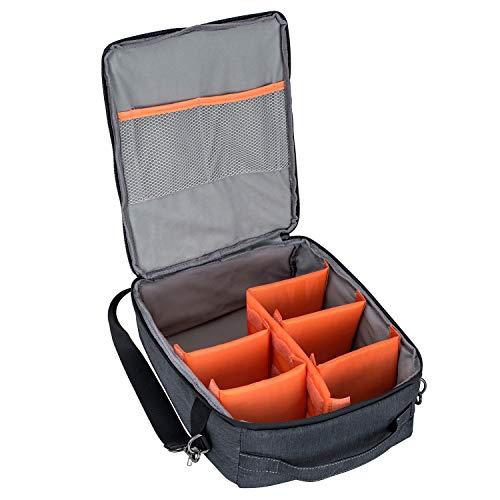 S-ZONE Waterproof Camera Case bag Insert with Top Handle Shoulder Strap for DSLR SLR Camera Lens