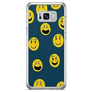 Samsung Galaxy S8 Transparent Edge Phone Case Emoji Phone Case Smileys Phone Case Pattern