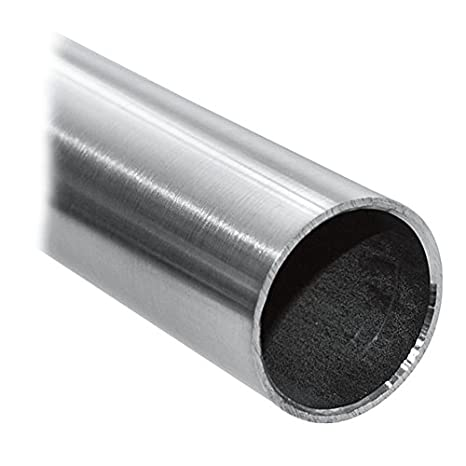 Tubo de acero inoxidable V2A, tubo redondo, 100 cm: Amazon ...