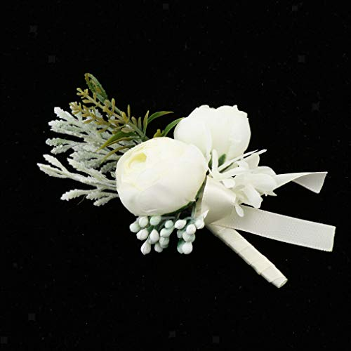 BROSCO Wedding Flower Corsage Pin Brooch Party Suit Decor Boutonniere Buttonholes | Color - - Brooch Amethyst Flowers