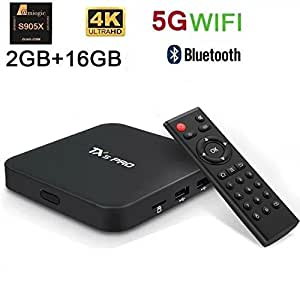 Fxexblin TX5 PRO Android TV Box 2GB/16GB 4K android 6.0 Amlogic S905X Quad Core 5G Wifi Smart TV Box