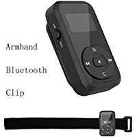 ChenFec Clip Bluetooth 8GB Mp3 Player Mini Portable Lossless Music Player with FM radio Record | support up to 64 GB-Black