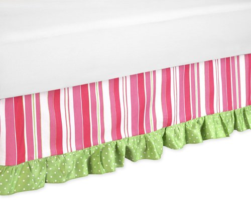 - Sweet Jojo Designs Queen Kids Children's Bed Skirt for Olivia Bedding Sets