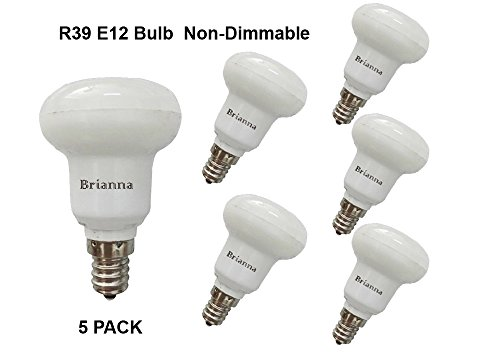 lagpousi Small LED Bulbs Intermediate E12 (Base) Replaces 25w , Cool White 5000k. CRI 80; (Base Small Reflector Bulb)