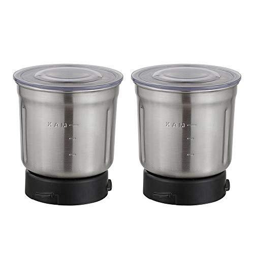 Secura Coffee & Spice Grinder Stainless-Steel Blades 2 Bowls for #CG-7412
