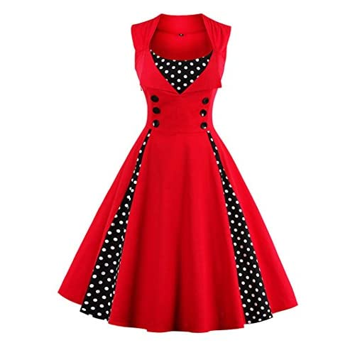 ba01f058528 Nihsatin Women s Audrey Hepburn Vintage Style Rockabilly Swing Dress  delicate