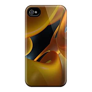 Awesome Design Abstract Orange Art Jpg Hard Case Cover For Iphone 4/4s