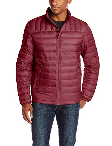 Tommy Hilfiger Men's Packable Down Jacket (Regular and Big & Tall Sizes), Red, ()