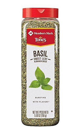 Tone's Sweet Basil Leaf - 5.5 oz. shaker by Spices & Seasonings (Image #1)