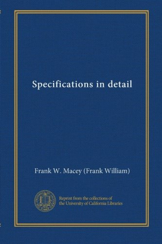 Specifications in detail