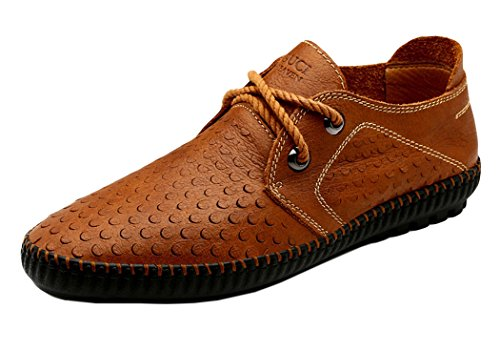 Guciheaven Mens 2015 New First Layer Of Leather Casual Moccasin(7.5 D(M)US, Brown)