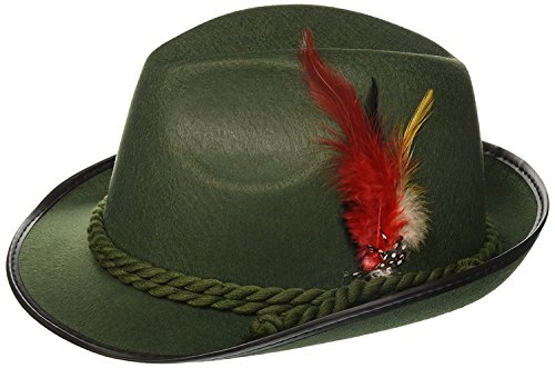 Forum Novelties German Bavarian Alpine Oktoberfest Hat - One Size - Green -