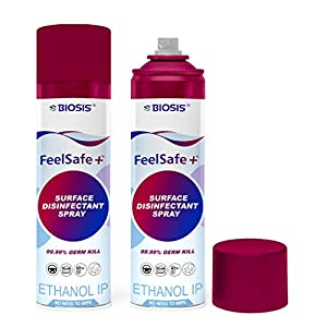 Biosis Feelsafe+ 170gm (230ml)(Pack of 2) Multipurpose Surface Disinfectant Spray Sanitizer, Germ Protection on Hard…