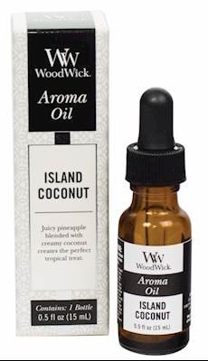 WoodWick ISLAND COCONUT Aroma Fragrance Oils for Ultrasonic Diffusers