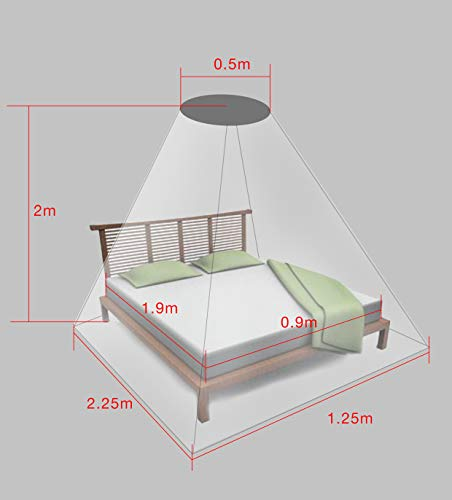 New Larger Design EMF Protection Shielding Silver Anti Bacterial Dome Canopy Small Twin, Twin XL, Full, Full XL Dome Perimeter 10.75 Feet Height 8.20 Feet