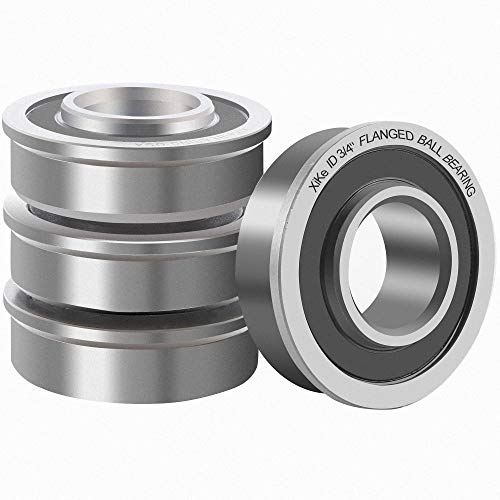 XiKe 4 Pcs Flanged Ball Bearings ID 3/4
