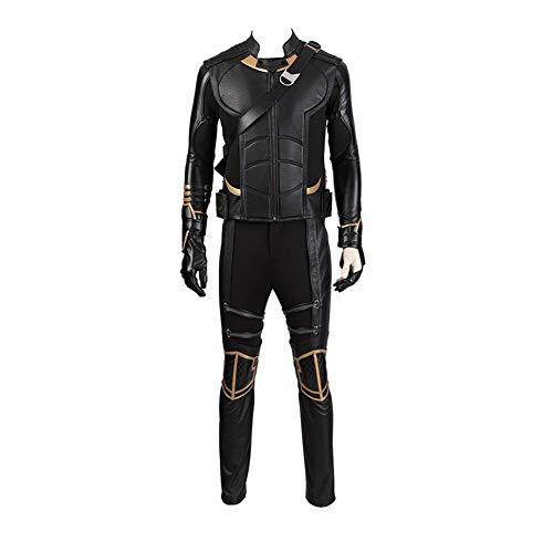 COSSHOW Avengers Endgame Marvel Costume Cosplay Adult Hawkeye Barton Hoodie Halloween Boots (Full Set No Boots,XXL)]()