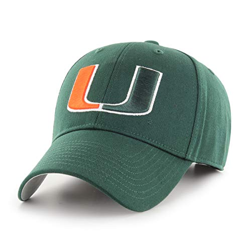 (NCAA Miami Hurricanes OTS All-Star MVP Adjustable Hat, Dark Green, One Size)
