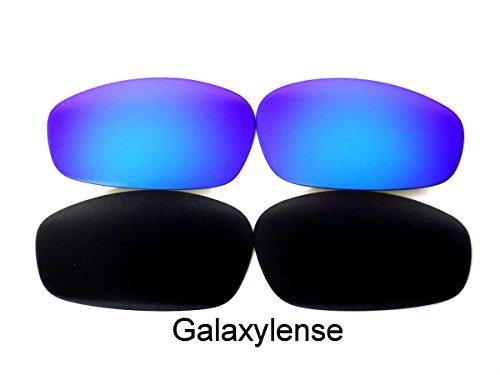 Galaxy Replacement Lenses For Oakley Split Jacket Black/Blue Polarized - Oakley Lenses Jacket Polarized Split