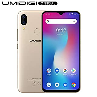 "UMIDIGI Power Unlocked Cell Phones 64GB+4GB RAM 5150mAh Battery 18W Fast Charging 6.3"" FHD+ Screen Global Version 16MP+5MP Dual Camera 4G Volte Smartphone - 1 Year US Warranty(Gold)"