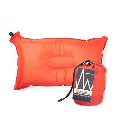 """Weanas Lightweight Compressible Recreation Self Inflating Air Pillow, Rectangular 20"""" X 12"""",..."""