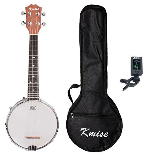 Kmise UV10406BL 4 String Banjo Ukulele Banjo lele Uke Concert 23 Inch Size Sapele with Bag Tuner by Kmise