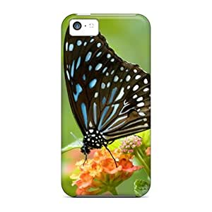 Iphone 5c PYA12558yxzA Support Personal Customs Realistic Butterfly Series Protective Hard Phone Cases -KevinCormack