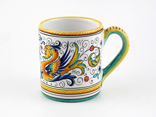 Raffaellesco Italian Ceramic - Hand Painted Italian Ceramic Mug Raffaellesco - Handmade in Deruta Italy