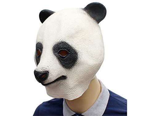 Yuchoi Funny Cute Latex Panda Mask Funny Latex Mask Head Cover Halloween Masquerade (White) by Yuchoi (Image #2)