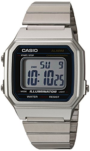 Man Of Steel Outfit (Casio Men's Classic Quartz Watch with Stainless-Steel Strap, Silver, 22.7 (Model:)